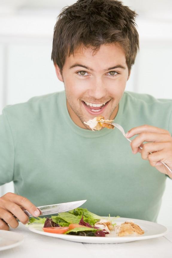 comer con antencion